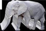 forme moulurée éléphant
