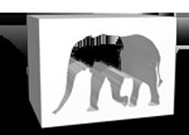 forme usinée éléphant